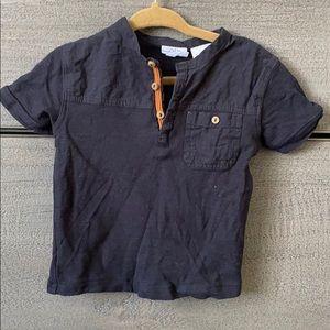 Zara black short sleeve T 9-12 mo